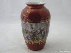 6345 Régi cseh altwien jelenetes váza