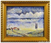 3209 Erich Stetten német festő Alföld 1944
