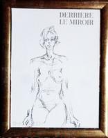 Alkuképes! A világhírű Alberto Giacometti (1901-1966) eredeti litográfiája