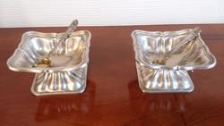 2 db antik ezüst fűszertartó kiskanállal