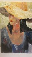 LEÁRAZVA!!!!Szentes Zsuzsanna: Nő kalapban