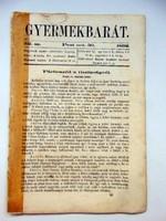 1862 október 30  /  Gyermekbarát  /  RÉGI ÚJSÁG Ssz.: 527