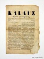 1858 április 17  /  KALAUZ  /  RÉGI EREDETI MAGYAR ÚJSÁG Ssz.: 1627