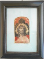 Antik Stevengraph Jézus fej Ritka!