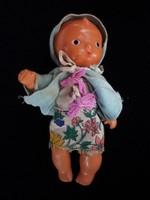 Vintage ritka gumi baba, eredeti ruhájában