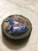 Álomszép Japán kézzell festett domború SATSUMA bonbontartó