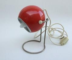 Régi retro asztali fém gömb lámpa