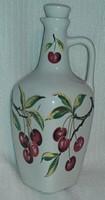 Porcelán,füles pálinkás butella ( 7 dl-es)