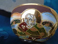 Satsuma Moriage Nippon(Nagy Japán) teáscsésze-Kannon és Rakan minta (1)