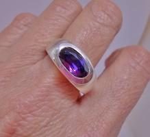 Csodálatos régi ametisztköves ezüstgyűrű