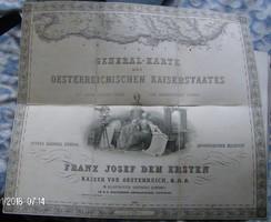 GENERAL-KARTE! Hauptmann Josef Scheda 1856. (Katonai térkép)