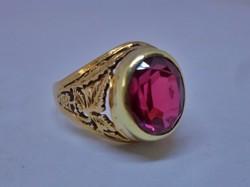 Csodás antik gránátköves 14kt-os aranygyűrű