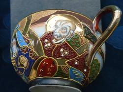 Satsuma Moriage Nippon(Nagy Japán) teáscsésze-Kannon és Rakan minta (5)