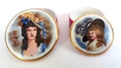 Gyönyörű Limoges Barokk porcelán szelence 2db