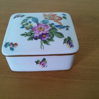 Virág mintás herendi porcelán bonbonier 1956