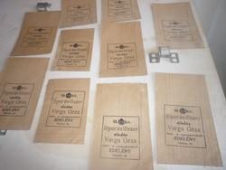 10 db régi címeres papír zacskó