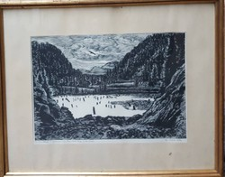 Gy. Szabó Béla-Gyilkos tó fametszet
