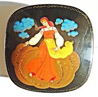 Orosz kézzel festett fém doboz