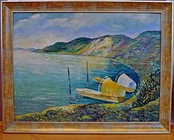 TIHANYI János Lajos (1892-1957) festmény, 71 x 91 cm, o.v.