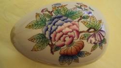HERENDI, dús Viktória mintás, porcelán tojás-bonbonier.