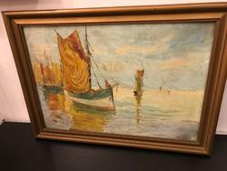 Vitorlás festmény Monti
