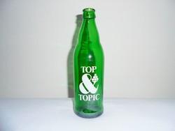 Retro TOP TOPIC limonádé üdítő üdítős üveg palack festett felirat - 1987-es