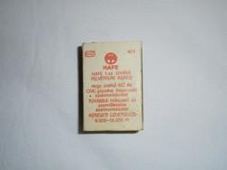Retro reklám gyufa gyufásdoboz - HAFE Hajtómű és Festékberendezések gyár - 1970-es évekből