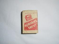 Retro reklám gyufa gyufásdoboz - ÉTK Építésügyi Tájékoztatási Központ - 1970-es évekből