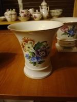 Herendi virágmintás porcelán váza