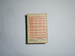 Retro reklám gyufa gyufásdoboz - VIDEOTON - 1970-es évekből