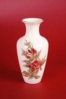 Zsolnay virágos váza (16,5 cm magas)
