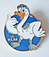 Holland KLM tűzzománc kacsa