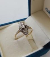 Bécsi Hibátlan eredeti Art deco 585 14 karátos arany gyűrű gyémánttal 0,4 ct az 1920-as évekből