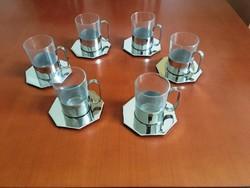 Zepter 18/10 rozsdamentes acél pohár teás kávéskészlet - NEM használt