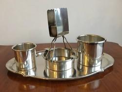 Ezüst asztali dohányzó - Szivarozó készlet