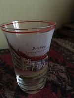 Cseh üveg fürdőpohár-antik cseh üveg