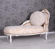 Vintage Antik Kanapé, Rokokó Luxus Rekamié, Exkluzív Nappali vagy Háló Barokk Bútor, Gyönyörű Ágy