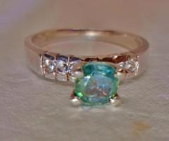 Szépséges valódi  0,7ct  Moissanite gyémántos ezüstgyűrű