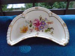 Royal Crown Derby antik angol virág mintás,dombormintás csontos tálka