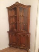 Warrings sarok vitrines szekrény 100x194cm  70cm sarok