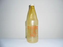 Retro OLYMPOS orange juice narancs üdítő üdítős üveg - festett címke, műanyag palack - 1977-es