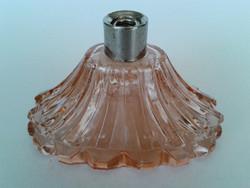 Régi rózsaszín parfümös üveg