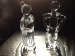 Kristály szobor pár