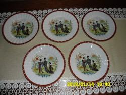 """""""Csodás"""" kínai süteményes tányér 5 db"""