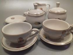 Porcelán kávés teás játék baba készlet