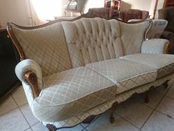 Barokk ülőgarnitúra 3+2-es eladó