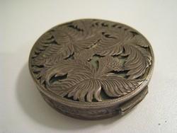Antik ezüst gyógyszertartó/púdertartó doboz