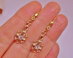 Szépséges antik 0.22ct gyémántköves aranyfülbevaló Akció!!