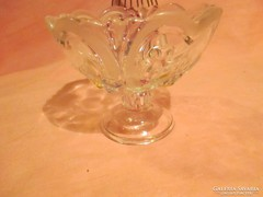 Csodás anyagában mintás üveg kehely  A036