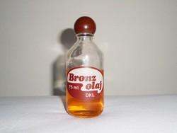 Retro DKL Bronzolaj üveg palack - 1980-as évekből